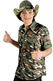 Unbekannt Camouflage-Hemd / Military-Shirt | Erwachsenen-Größen | Großwildjäger-Hemd für Karneval (50/52)