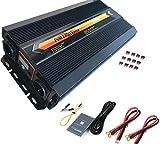 Inverter di Potenza 3000 Watt (6000W Surge) 12V DC to 220V/230V/240V AC Invertitore per Auto, Solar, RV, Back Up Power (cavi + telecomando + fusibile ANL incluso)