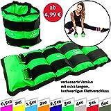 C.P.Sports Gewichtsmanschetten Paar für Hand- und Fußgelenke, 2X 0,5kg - 2X 1kg - 2X 1,5kg - 2X...