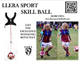 Llera Sport - Balón De Habilidad De Fútbol, El Mas Novedoso Sistema De Entrenamiento De Futbol Para La Mejora De Ambos Pies - El Mejor Kit De Entrenamiento - Pelota De Futbol