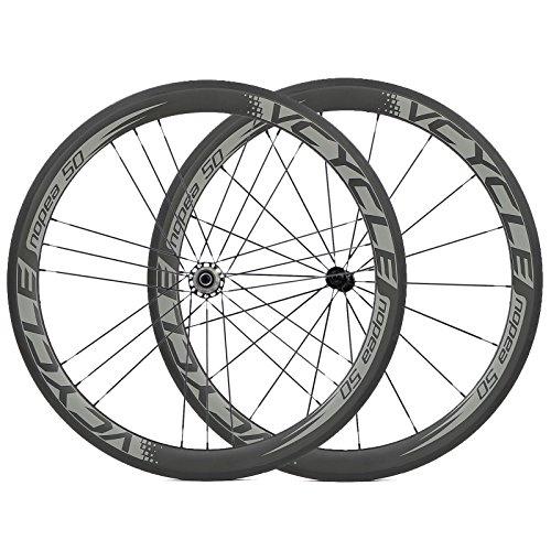 [VCYCLE nopea] G3 tirare dritto 18/21 50mm copertoncino ruote in carbonio per 700C strada della bicicletta 1575g - 130 Mm Mozzo Posteriore