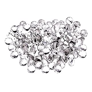 TOOGOO(R)50x 22mm diamante Acrylic crystal upholstery headboard buttons nail