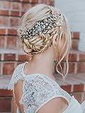 Simsly Mariage Peignes diapositives de mariage Accessoires Cheveux Coiffe pour mariée et Demoiselle d'honneur (Doré) Fs-228