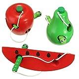 Inovey Anspannen Essen Nahrhaft Gespann Kind Kids Entwicklung Spielzeug Apfel Obst Schmetterling Seil Wassermelone - Apple