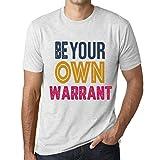 Photo de One in the City Homme T Shirt Graphique Imprimé Vintage Tee Be Your Own Warrant Blanc Chiné par One in the City