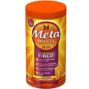 Metamucil MultiHealth Fiber Orange Smooth 72 Doses 30.4 OZ