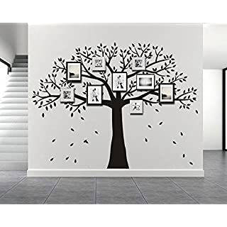 anber Large Family Photo Tree Wall Decal Vinyl Mural Art Wall Sticker for Living Room Bedroom