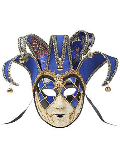 TAAMBAB Damen Maskerade Maske Venezianischer Narr Maskerade Party Maske Halloween Fairy Party Gesichtsmaske Event Party Ball Karneval für Hochzeit Karneval Party Ball Prom - Venezianische 16 Licht