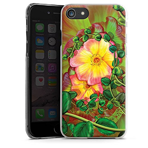 Apple iPhone 7 Tasche Hülle Flip Case Blume Blüten Efeu Hard Case transparent