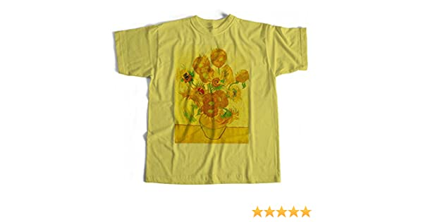 1eebc1c277 Old Skool Hooligans Fine Art T Shirt - Vincent Van Gogh Sunflowers   Amazon.co.uk  Clothing