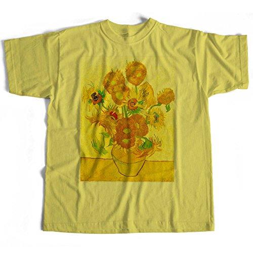 Old Skool Hooligans Fine Art T Shirt - Vincent Van Gogh Sunflowers