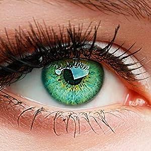 """ELFENWALD farbige Kontaktlinsen ohne Stärke, Produktreihe """"INTENSE"""", ein paar weiche Farblinsen OHNE Aufbewahrunsbehälter, natürlicher Look TOPAS"""