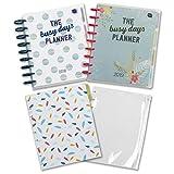 Starter Set Busy Days Planner Boxclever Press. Con Busy Days Planner 2018 & 2019. Planner creativo, agende ad anelli con tasca con zip e un pacco di pagine note per dare lo sprint ai tuoi progetti