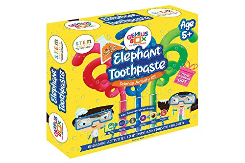 Genius Box - Play some Learning Elephant Toothpaste Science Activity Kit for 5+ Year Age: Birthday Gift, Return Gift, DIY, Educational Toy, Learning Kit, STEM Toy