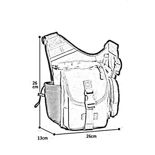 ZHANGRONG- Sacchetto di sella dell'esercito esterno Pacchetto trasversale obliquo Guidare una borsa Sacchetto di fotografia Borsa Sacchetto di camuffamento (Opzionale a colori) ( Colore : 1 ) 4
