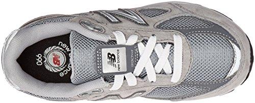 New Balance KJ990V4 Pre Running Shoe (Little Kid) Grey