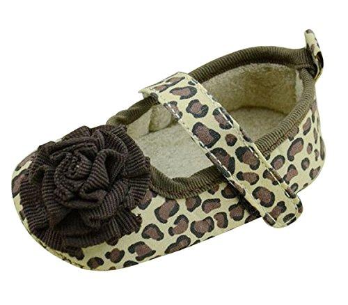 DEHANG Süß Mädchen Babyschuhe weiche Sohle Stoff Lauflernschuhe 12cm Leopard