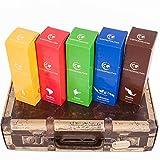 Coffeepolitan Geschenkset - Kaffee aus 5 Kontinenten - grob gemahlen 5 x 9 Portionen (5 x 63g) - eine ausgefallene Geschenkidee zu Weihnachten oder zum Advent