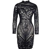 Search : VIVOSKY Women Sequin Dress Geometric Tattoo Bandage Bodycon Club Dresses