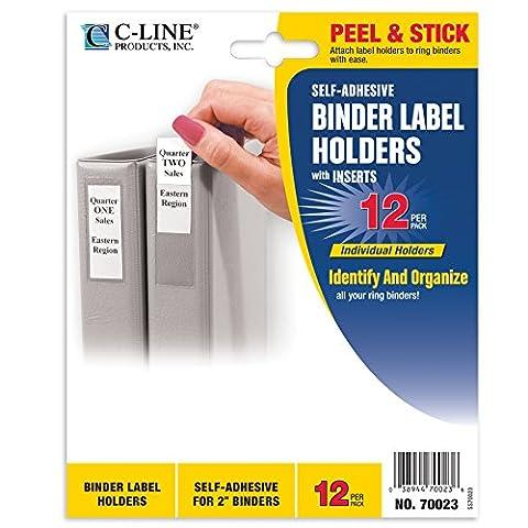 C-line Autocollant à anneaux porte-étiquettes pour 3,8cm classeurs 2-Inch Binders