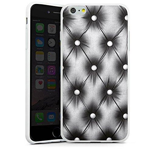 Apple iPhone X Silikon Hülle Case Schutzhülle Sofa Leder Muster Silikon Case weiß
