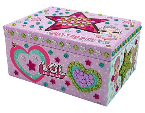 L.O.L. Surprise ! Boîte à Bijoux pour Fille Coffret pour Bijou Activité Créatif Glitterati Series Confetti Po