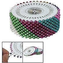 Labores Surtido De Colores Perlas Imitación Cabeza Costura Alfileres Ramillete 480 Piezas