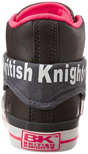 British Knights Roco, Baskets Basses Femme GRIS FONCÉ/FUCHISA