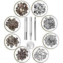 Kurtzy Kit Herramientas Botones de Presión 80 Botones a Presión Plata y Bronce - Herramientas Reparar