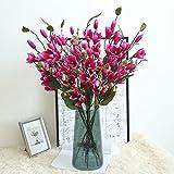 ForgetMe - Ramo de Flores Artificiales para decoración del hogar, diseño de Hojas de Magnolia