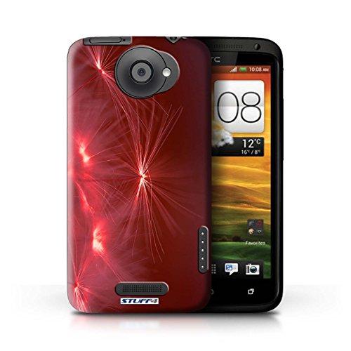 Kobalt® Imprimé Etui / Coque pour HTC One X / Orange conception / Série Allumez la vie Rouge