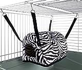 Little Friends Cuddle Up Rat Chinchilla Igloo, Zebra Print