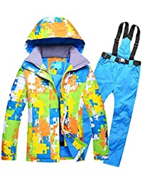Traje de esquí Modelos de Pareja Hombres Ms al Aire Libre a Prueba de Viento Pantalones de esquí de Gran tamaño Impermeables, XL, 1 Zafiro