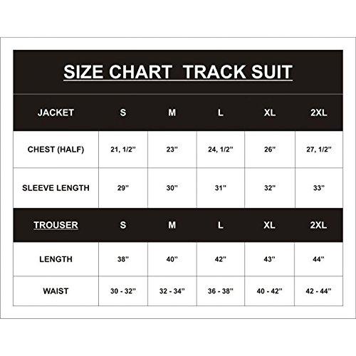 Islero Fitness Men Sports Tracksuit Gym Running Zipper Trouser Upper Casual Jogging Football Cardio  Black Green  Medium
