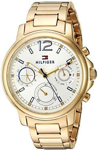 Tommy Hilfiger Women's 'CLAUDIA' Quartz Stainless Steel Casual Watch, Color Gold-Toned (Model: 1781742)