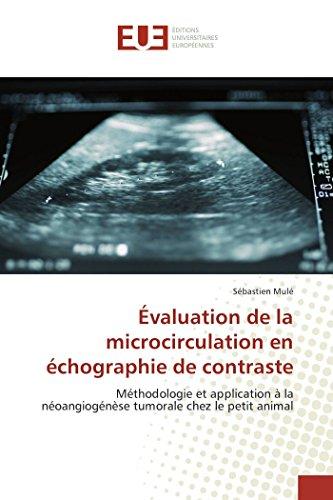Évaluation de la microcirculation en échographie de contraste