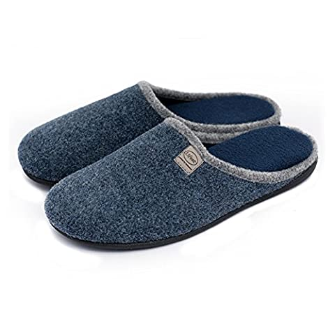 Unisex Slip on Slippers Happy Lily Antislip Sandal Memory Foam Mules Woollen Fabrics Shoes for Adult