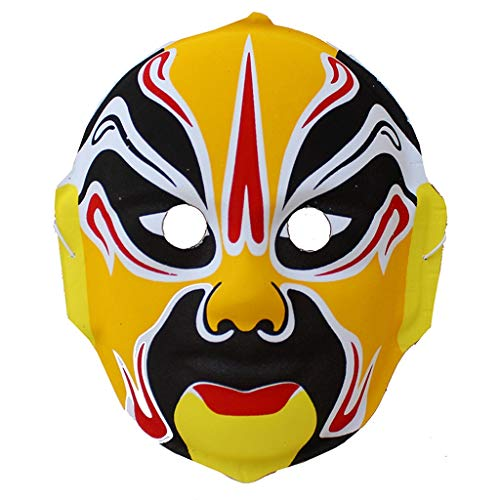 Maske - Peking Opera Mask Maskendekoration Halloween Show Prop Restaurant Tea Room Setting (Color : B)