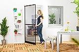 Insektenschutz Fliegengitter Tür Insektenschutztür Premium braun 100 x 210 cm