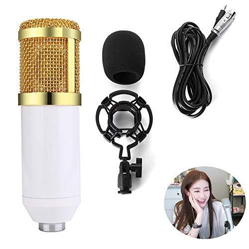 YUEC Kondensatormikrofon, Desktop-Kondensatormikrofon in Herzform für PC, Podcast, Vlog, YouTube, Studioaufnahme, Streaming, Synchronisation,B