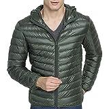 07a8de42c8ed QZUnique Mens Outwear Lightweight Packable Down Jackets Hooded Winter Coats