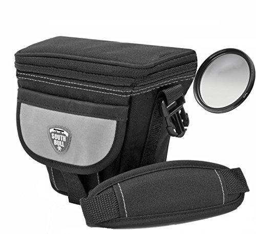 Foto Kamera Tasche Southbull Valley L mit Regencape im Set Plus Polfilter 58mm für Canon EOS 100D 700D 750D 760D 1200D 1300D mit 18-55mm is Objektiv