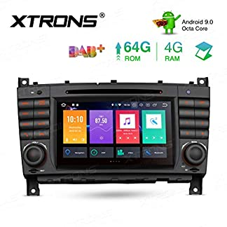 XTRONS-7-Android-Octa-Core-4GB-RAM-64GB-ROM-Autoradio-mit-Touchscreen-Android-90-DVD-Player-Autostereo-untersttzt-3G-4G-Bluetooth-DAB-OBD2-CAR-Auto-Play-TPMS-FR-Mercedes-Benz