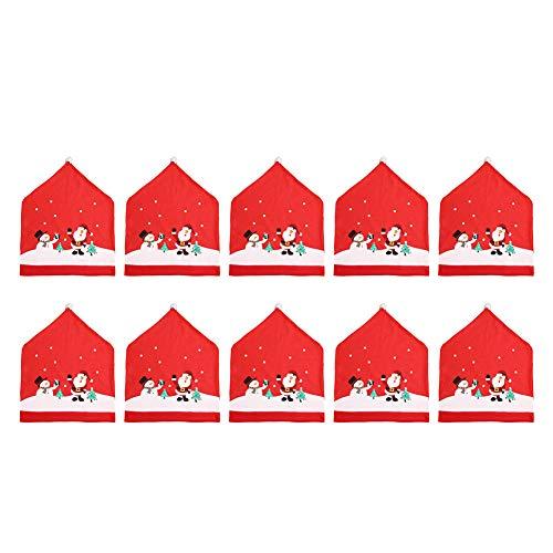 usse Weihnachten Party Dekoration für Haus Restaurant Hotel Hochzeit Hut Christmas Decorations Santa Claus Weihnachtsmann Stuhlbezug Stuhlüberzug (Rot, 49x60cm) ()