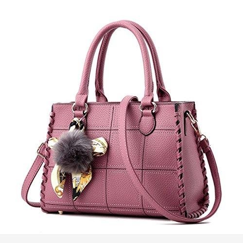 Frauen V-Form Handtaschen Umhängetaschen Große Top-Griff Taschen Cross-Body Taschen Tote Bag Messenger Bag Pink