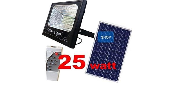 Faro led con pannello solare faretto crepuscolare telecomando