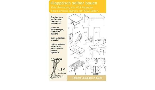 Klapptisch Selber Bauen.Klapptisch Selber Bauen 478 Patente Zeigen Wie Amazon De