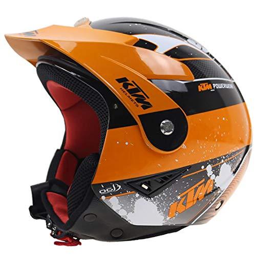 Club Boy Fahrradhelm, Motocross-ATV-Rennhelm, Sicherheitsschutz Dot/Ece-Zertifizierung für alle Jahreszeiten mit Komfort und Atmungsaktivität