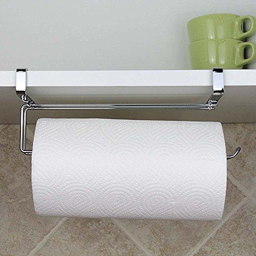 Edelstahl Küche Papier Kleiderbügel unter Schrank Rolle Handtuchhalter Tissue Aufhänger Organizer Rack für Küche unter Unterschrank über Tür Portfolio-lampe Set