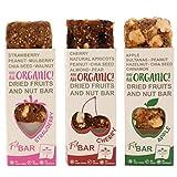 Fit BAR Premium Snack BIO | Senza Glutine, Naturale, Vegan, Snack alla Frutta, Non OGM, Senza Derivati del Latte, Vegetariano, Senza Zuccheri Aggiunti, Barrette di Frutta Fresca Essiccata & Frutta Secca 30g (confezione da 20)